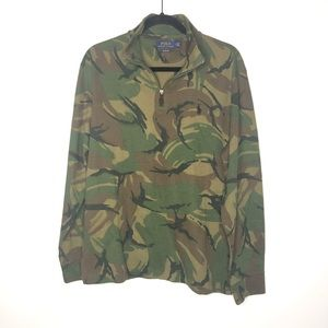 Polo Ralph Lauren Mens Sweatshirt 1/4 Zip Camo NWT